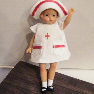 Vintage Effanbee Tiny Hospital Nurse Doll Jointed